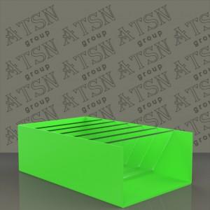 Коробка акриловая из цветного пластика