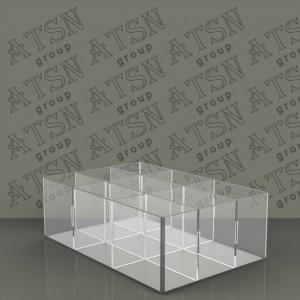 Акриловая коробка на 9 отделений