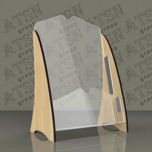 Буклетница из дерева и пластика - формат А5