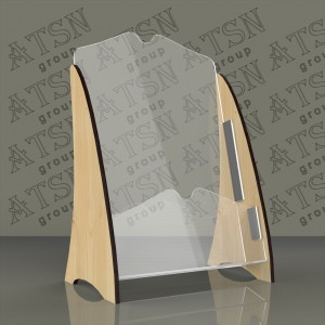 Буклетница из дерева и пластика - формат А4