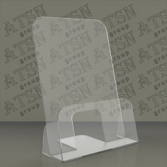 Пластиковая прозрачная подставка под буклеты