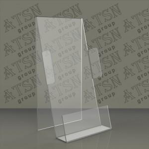 Подставка из оргстекла с боковыми ограничителями для полиграфии