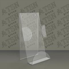Пластиковая подставка для буклетов с ограничителями