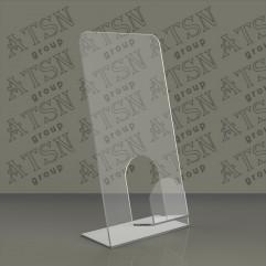 Прозрачная настольная подставка для полиграфии
