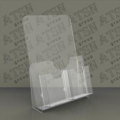 Буклетница для полиграфии из прозрачного пластика