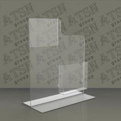 Подставка для буклетов прозрачная
