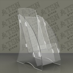 Буклетница для рекламной полиграфии прозрачная