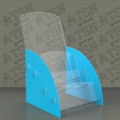 Пластиковые настольные подставки под листовки