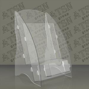 Буклетница прозрачная 1/3 а 4 - еврофлаер