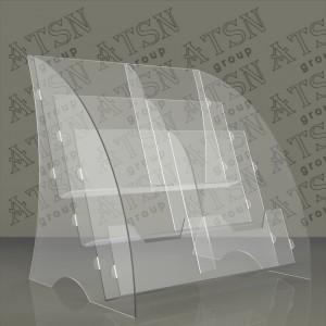 Пластиковая прозрачная подставка для листовок