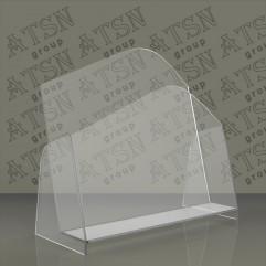 Прозрачная подставка для полиграфии