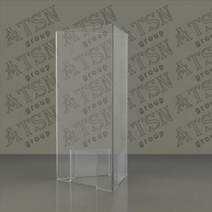 Менюхолдер прозрачный 3-х сторонний под еврофлаер