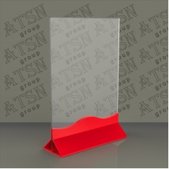 Подставка под меню с фигурным омнованием А4