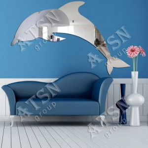 Декоративное зеркало. Дельфин
