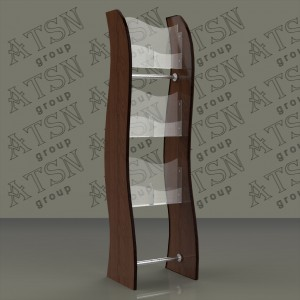 Напольная стойка из акрила и дерева