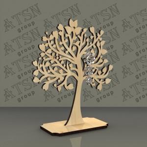 Подставка из дерева для бижутерии