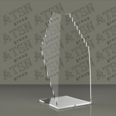 Пластиковая прозрачная подставка для бижутерии