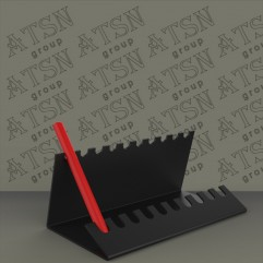 Подставки из черного акрила под ручки