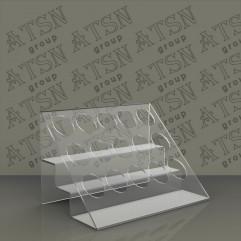 Пластиковая подставка для косметической продукции