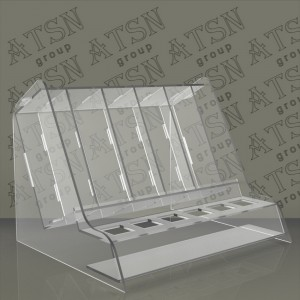 Подставка акриловая прозрачная для косметики