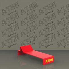 Акриловая подставка с печатью лого под обувь