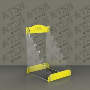 Акриловая подставка с печатью лого, под набор ножей