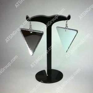 Серьги. Треугольник серебряный