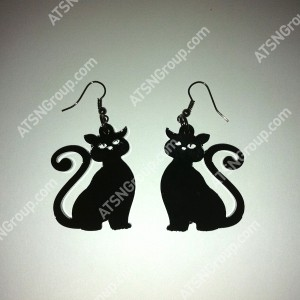 Серьги. Черный кот