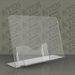 Подставки под визитки из прозрачного пластика