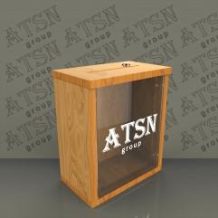 Ящик для пожертвований деревянный 250х300х145
