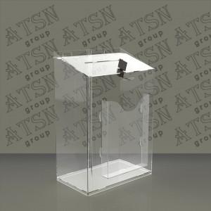 Ящик для пожертвований с кармашком под листовки