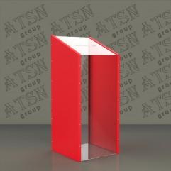 Коробка для пожертвований из цветного и прозрачного пластика
