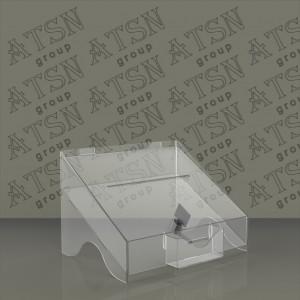 Ящик для пожертвований карманом под визитки