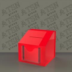 Ящик для пожертвований из цветного акрила